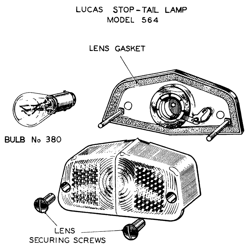 Lucas Model 564 Stop-Tail Lamp